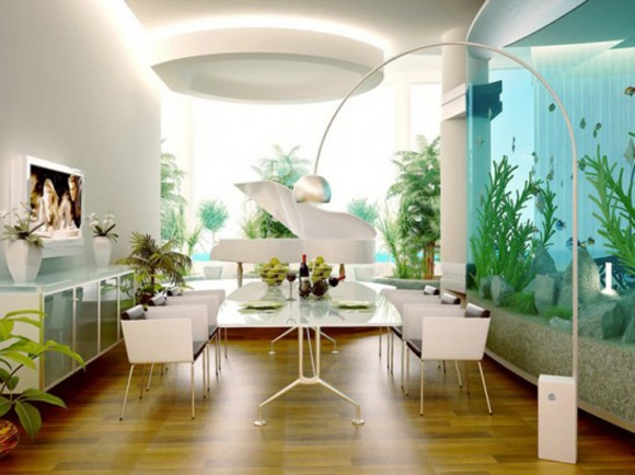 huge wall aquarium decor