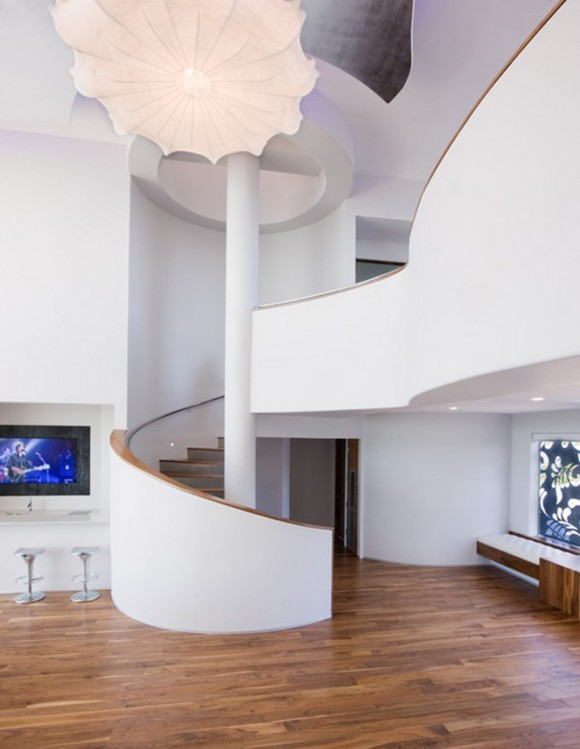 innovative spiral staircase layouts