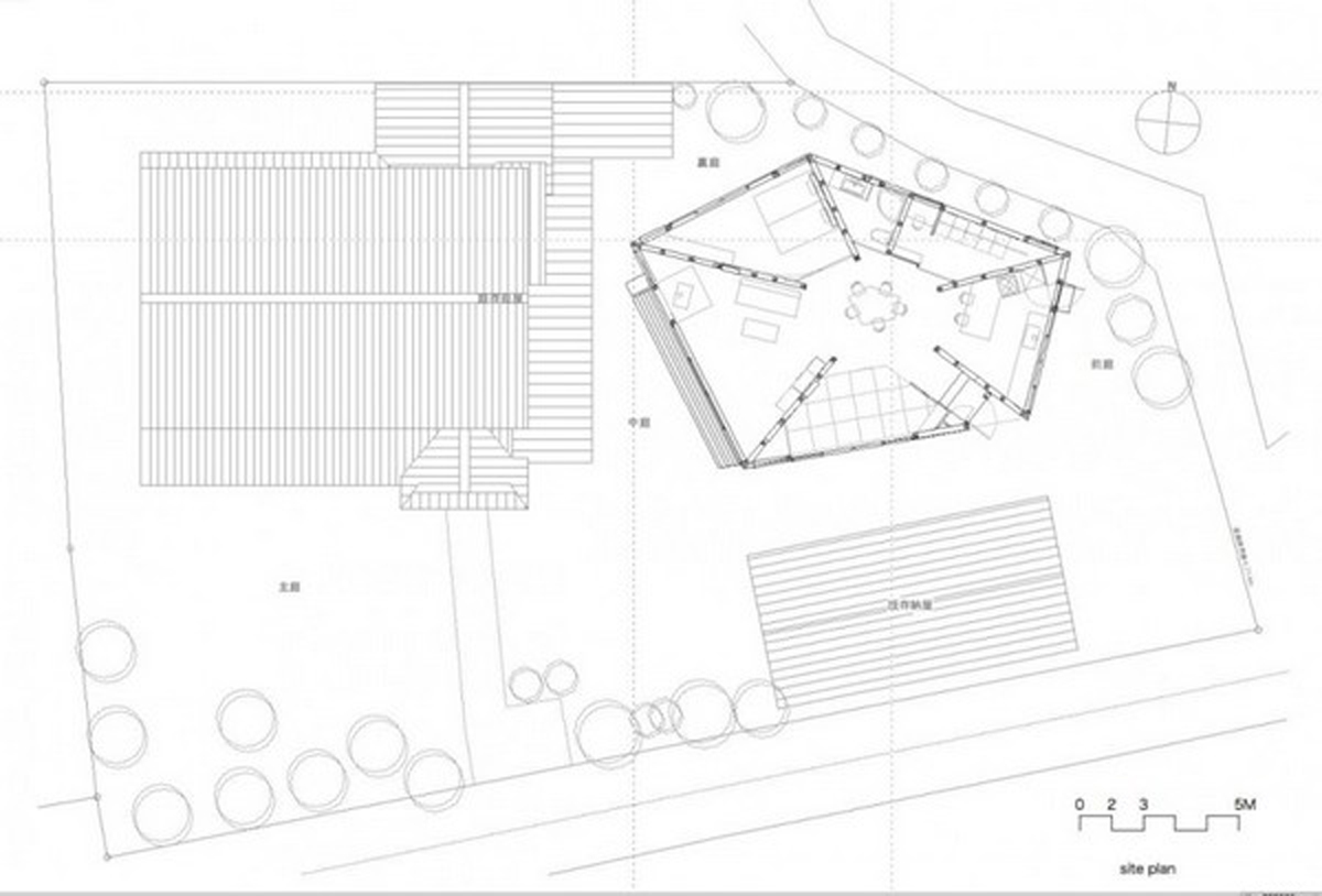 Spectacular pentagon house inspirations with japanese for Pentagon house plans