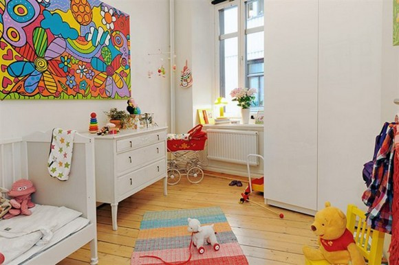 spacious kids play room decor