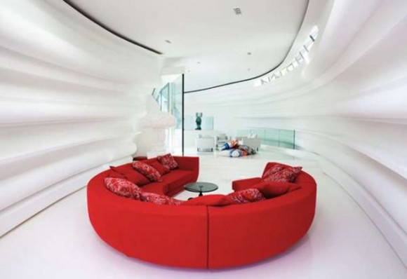 stylish red sofa furniture layouts