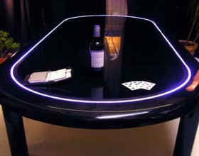 turn in dining room table into poker table inspiratioons