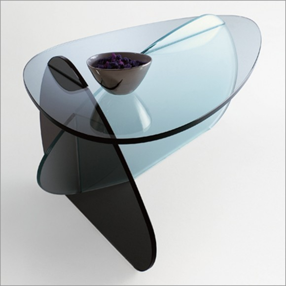 unique glass coffee table