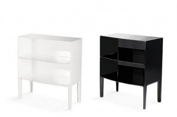black and white glass furniture inspirations