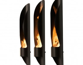 black outdoor bioethanol fireplaces