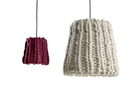 classy knitted pendant lamp design
