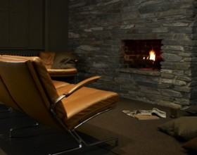 comfortable dark interior applications