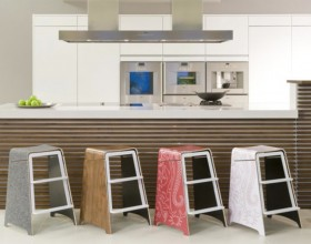 contemporary kitchen stool design