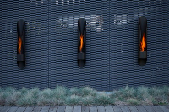 creative outdoor fireplace designs