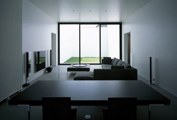 dark living room interior