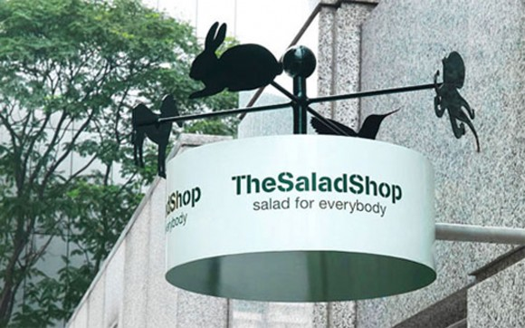 distinctive Salad Shop design