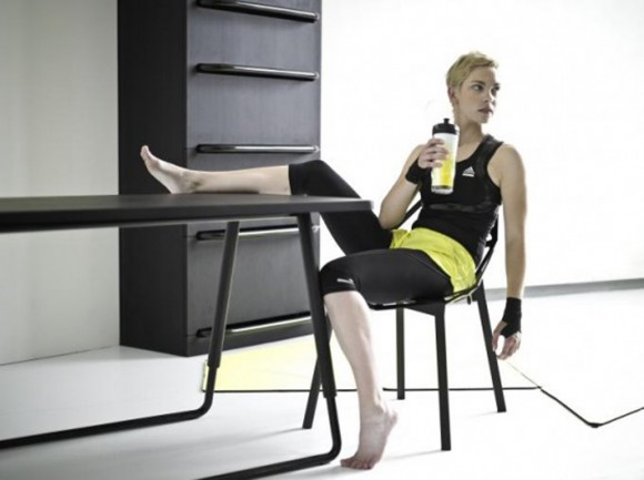 getting healthy through useful furniture and gym combination