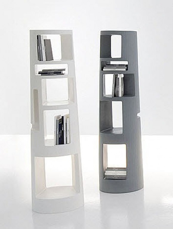 innovative standing bookshelf applications