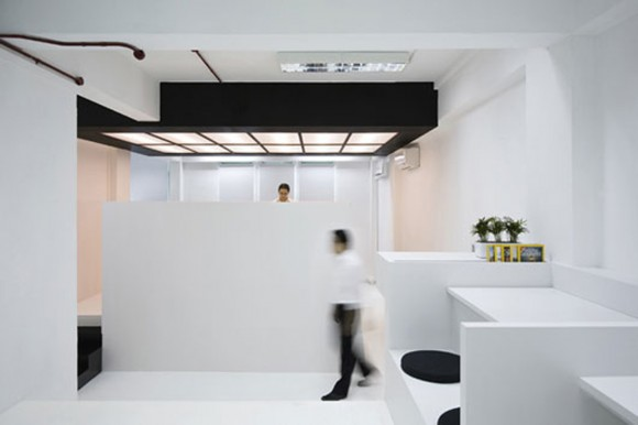 modern thin minimal office