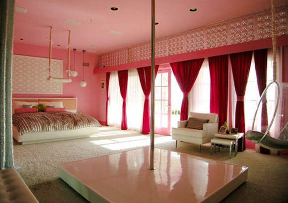 romantic beach house bedroom