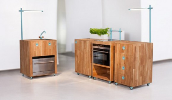 space saving kitchen system design