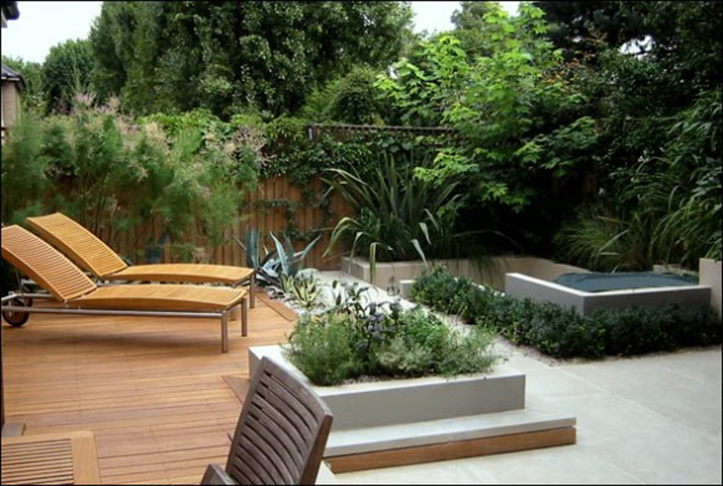 Modern House Beautiful Terrace And Landscape Spacious Roof Garden Inspirations