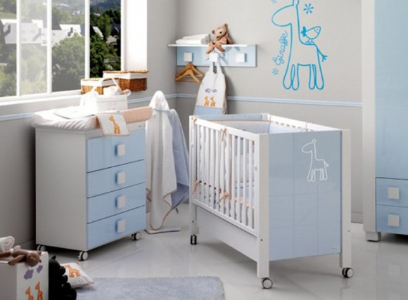 super cool baby nursery design