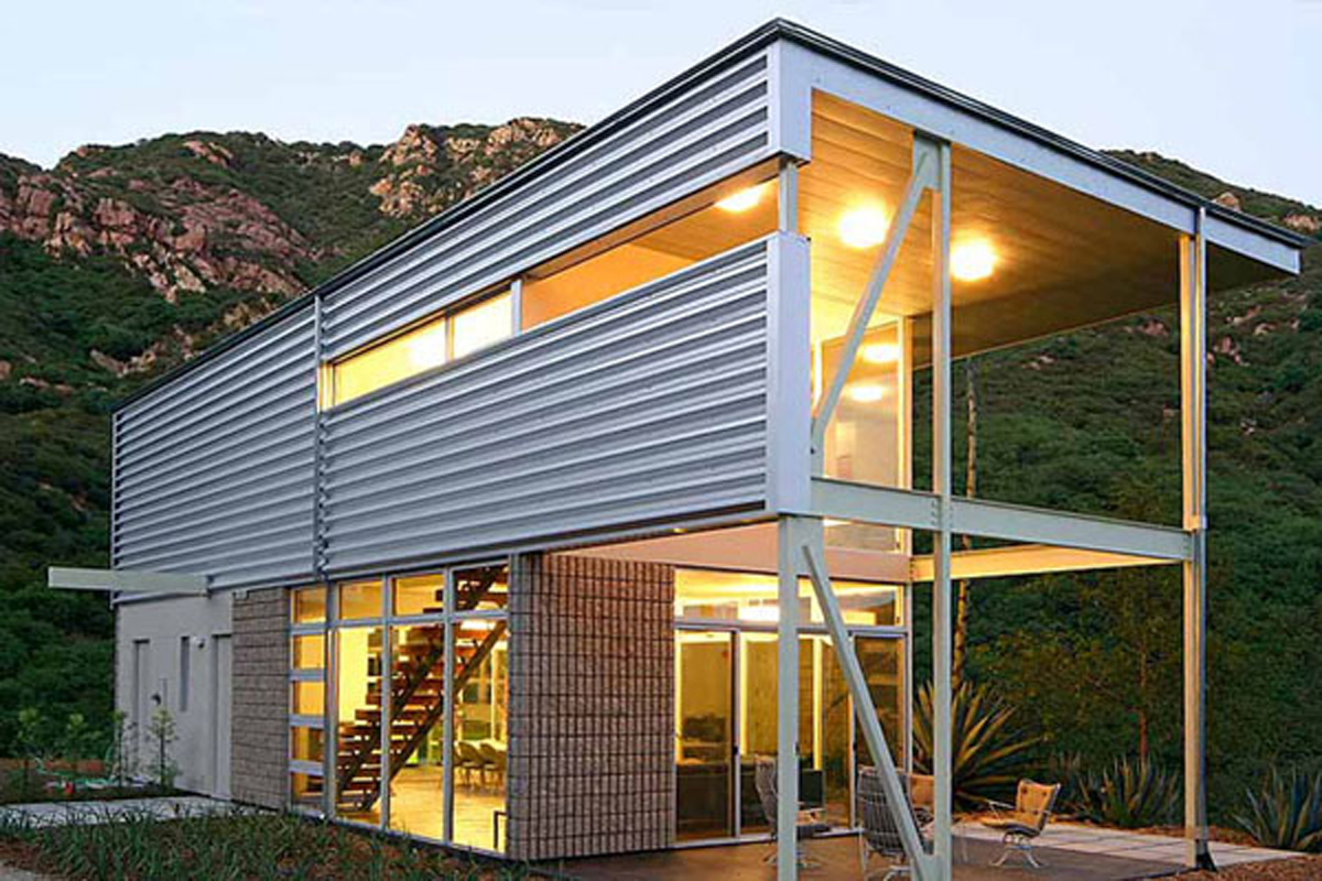 Modular home ultra modern modular home plans for Modern metal homes