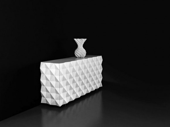 white rocky furniture design