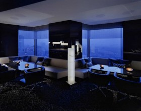 artistic blue black interior plans