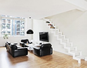 black and white apartment inspirations