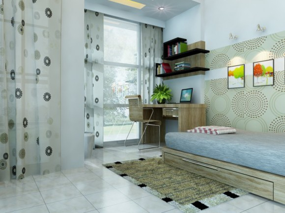 bright teenage room designs