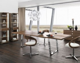 brown dining room table designs