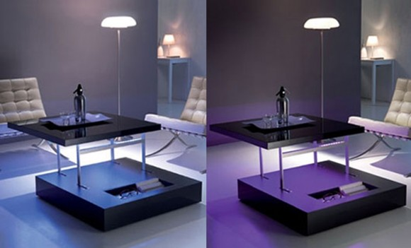 fancy glowing LED table ideas