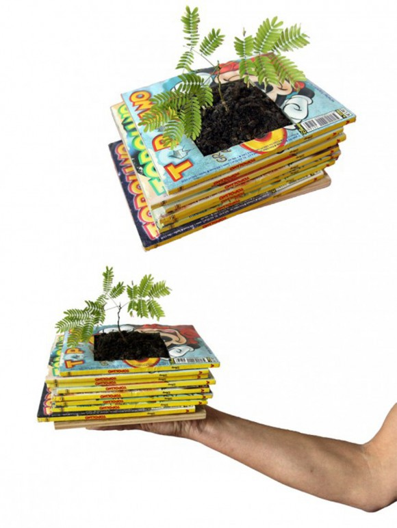 innovative book planter designs