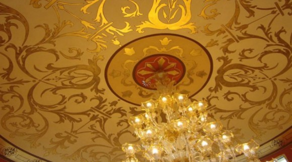 luxury gold ceiling applications