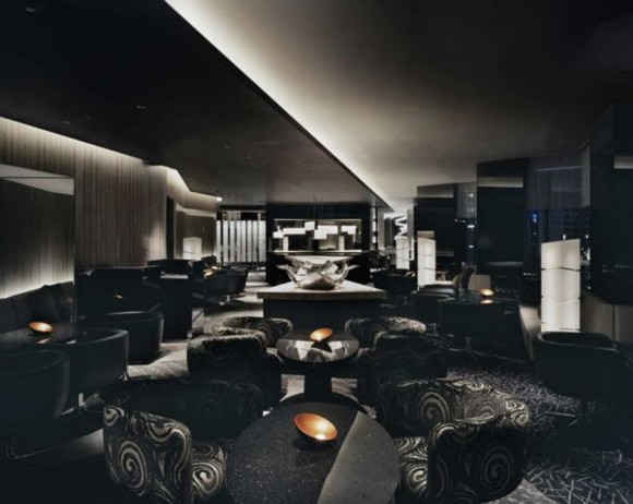 modern dark bar interior applications