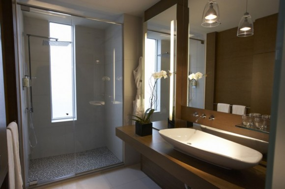 modern lodge bathroom ideas