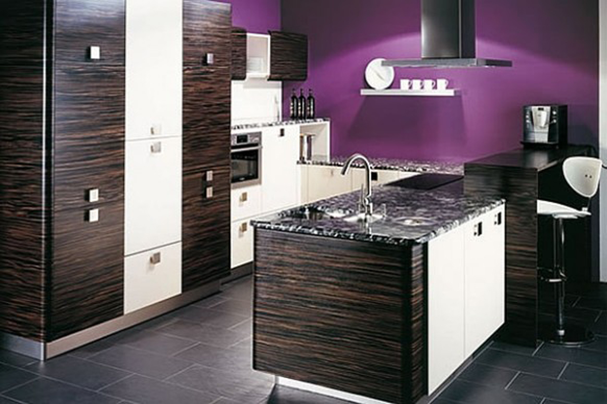 Modern Purple Kitchen Designs