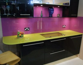 purple kitchen backsplash inspirations