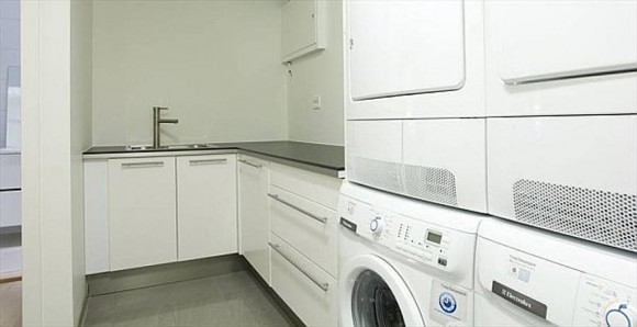 smart kitchen and laundry room combinations
