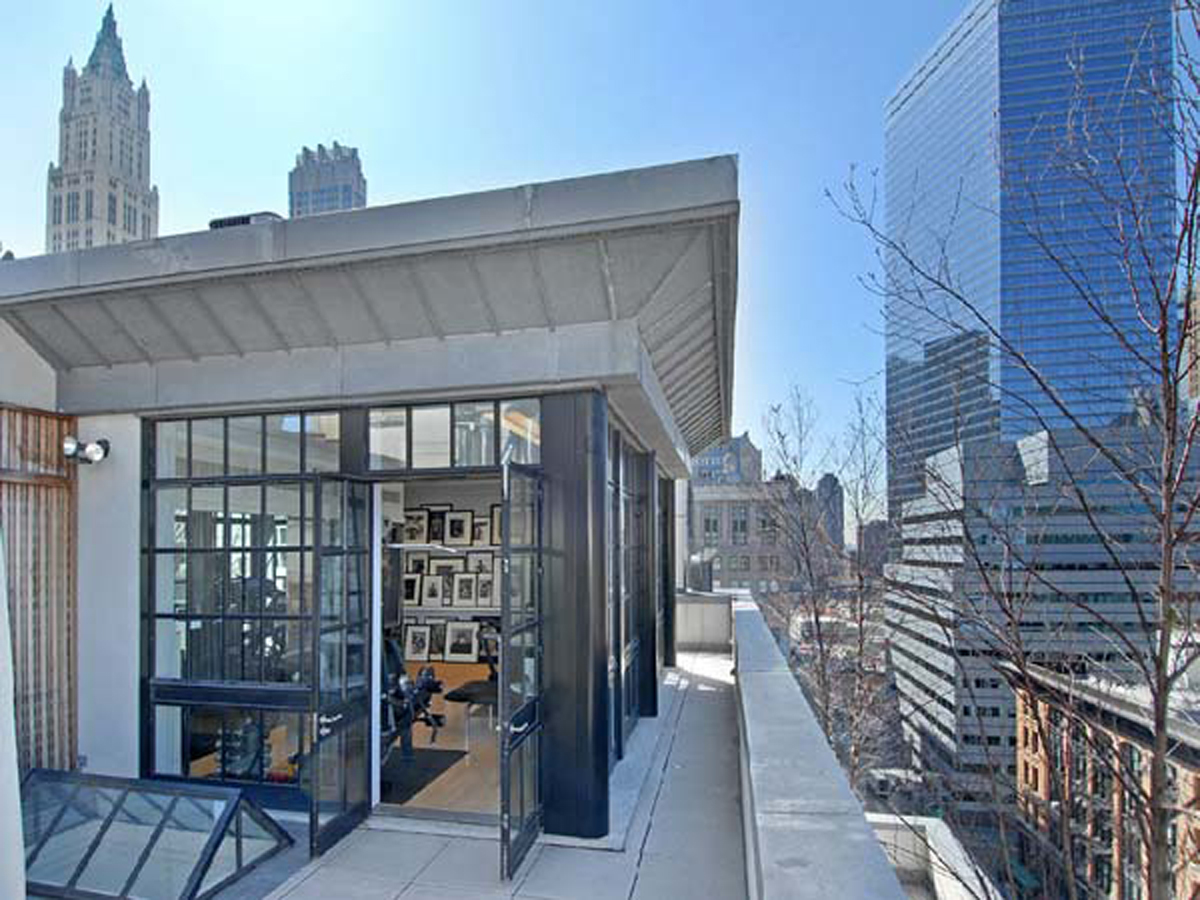 Cool And Cozy Tribeca Penthouse Design With Green Penthouse Garden Inspirations