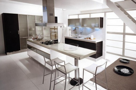 ultra modern kitchen interior plan