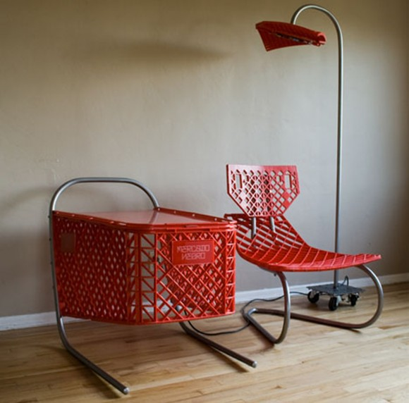 unique red chair and table inspirations