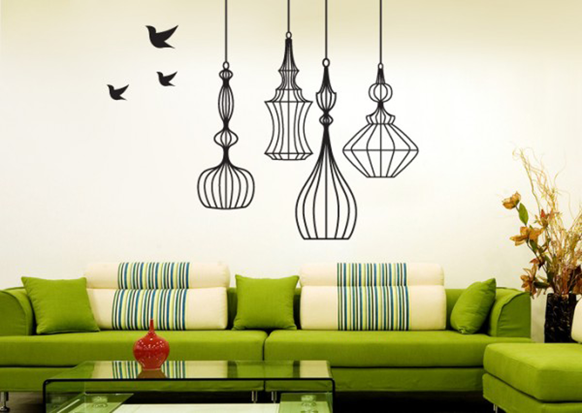 wall decals designs with natural features inspirations wall painting