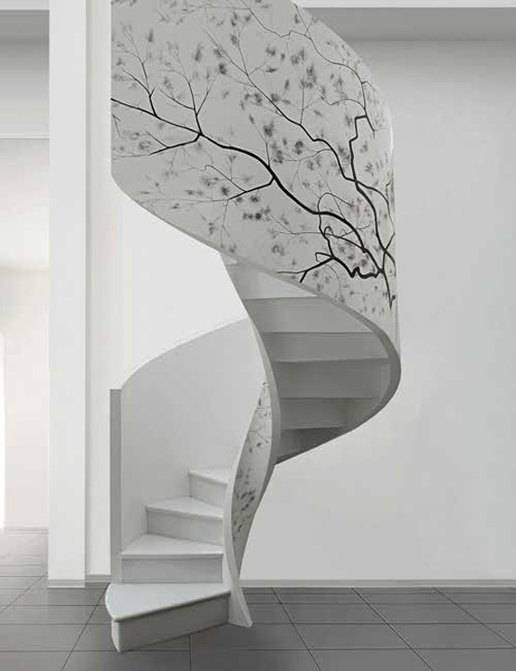 Artistic Indoor Spiral Staircase Designs