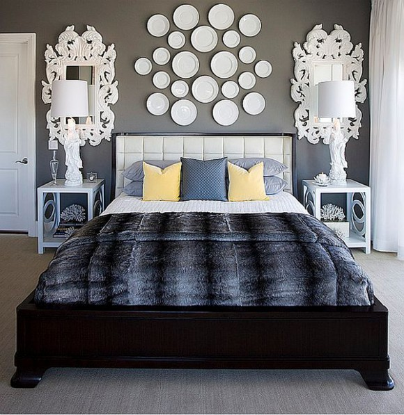 bedroom wall decal layouts