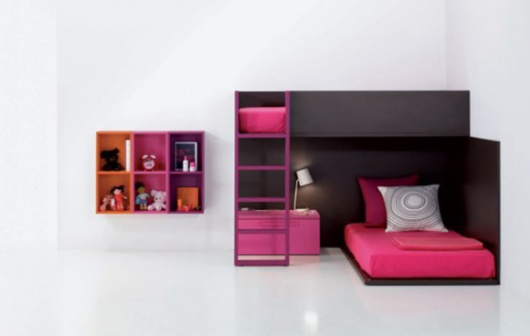 black and red baby and kids room