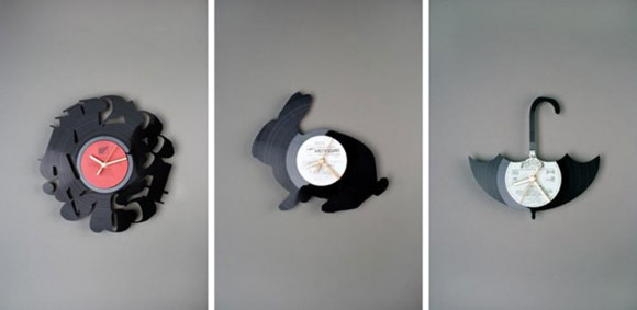 black recycle wall clock ideas