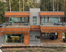 contemporary forest house designs