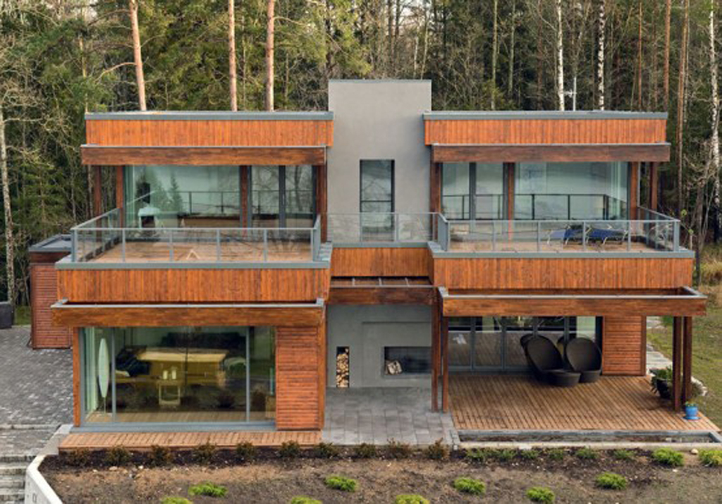 Contemporary forest house designs for Modern forest house design