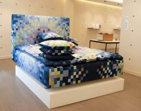 dynamic pixilated bed set designs