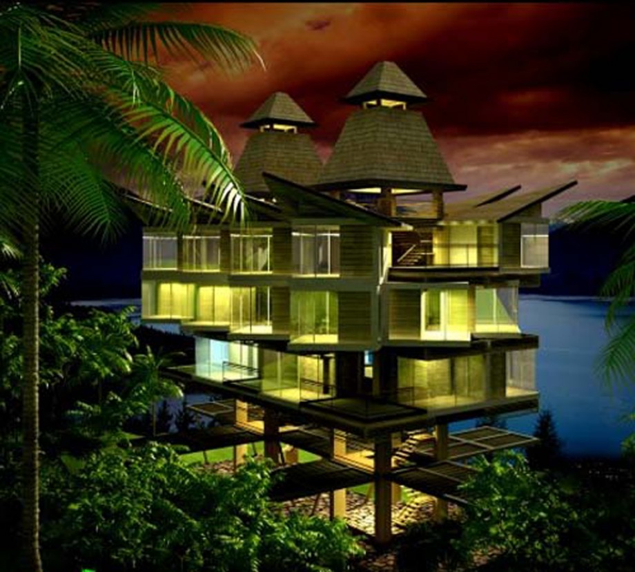 extraordinary tropical home constructions