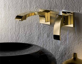 gold Swarovski faucet inspirations