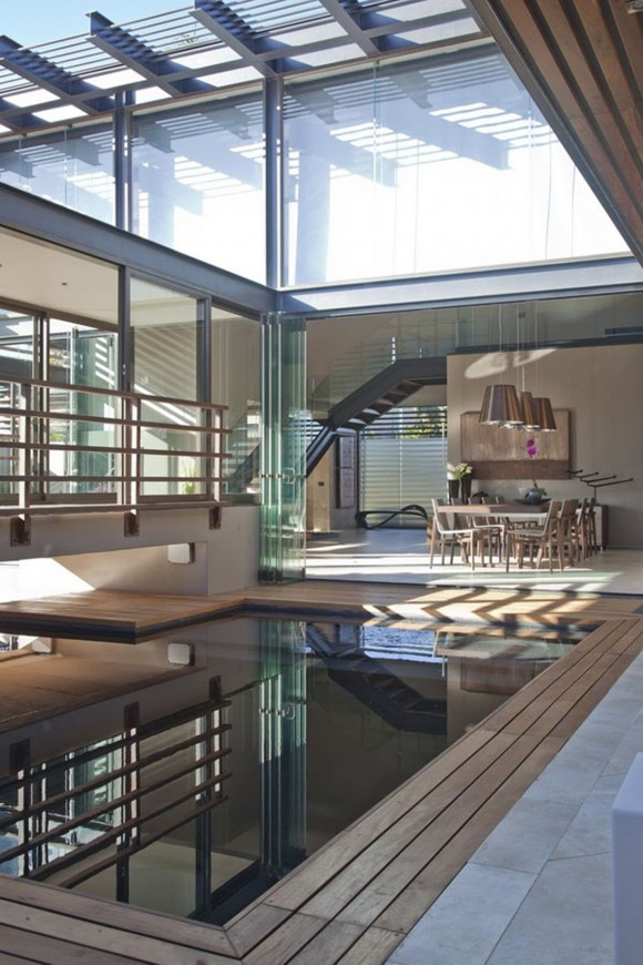indoor wooden laminated pool plans